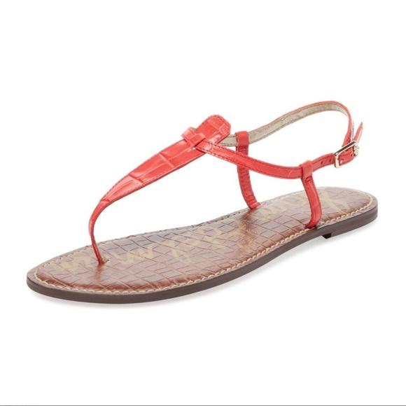 c9dfa9f26 NEW Sam Edelman Gigi Coral Croc Sandals 8